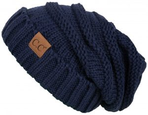 Trendy Chunky Cable Knit Slouchy Beanie
