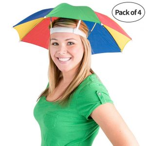 Unisex rainbow umbrella hat