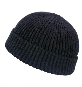 Clecibor Unisex Rollup Edge Knit Skullcap