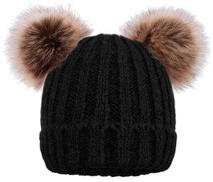 Pompom Cat- Ear Beanie