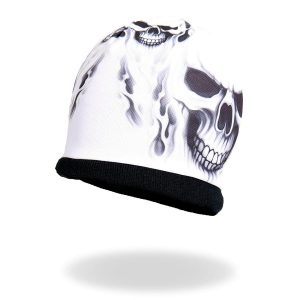 Sublimated Skull Print Beanie