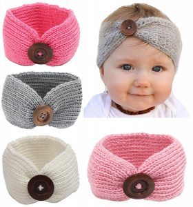 Turban Knitted Headband for Babies
