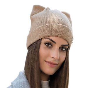 Braided Cat Ear Beanie Hat