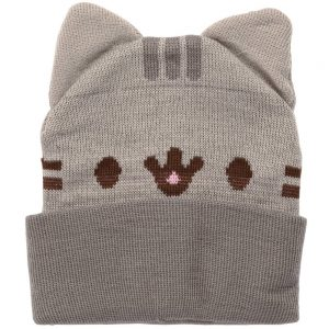Smiling Cat Beanie With 3D Cat Ears