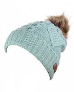 Women's Winter Fleece Lined Pompom Beanie Hat