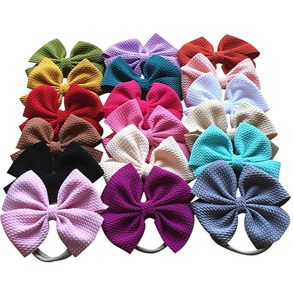 Set of 18 Pieces Solid Colors Headband for Infant Baby Girls