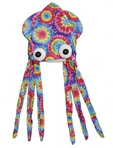 Multicolored Patterned Squid Hat
