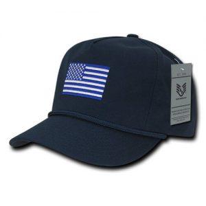 RapDom USA Flag 5 Panel Golf Men's Cap
