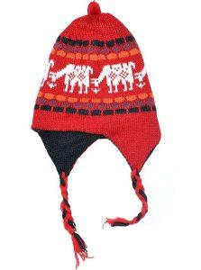 Alpaca Braided Beanie Hat with Earflaps
