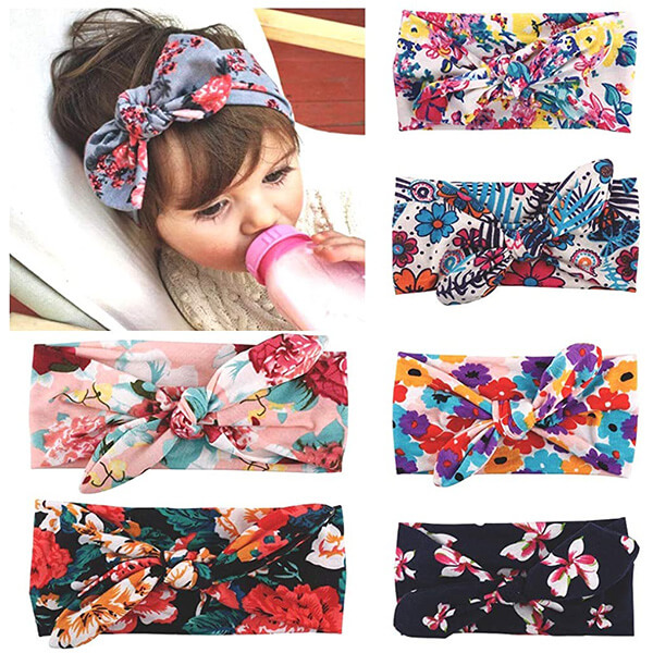 Bohemian Turban Knotted Hairbands for Baby Girls