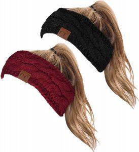 Cable Knit Fuzzy Lined headband