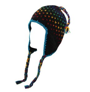 Nepal Hand Knit Beanie with Earflaps