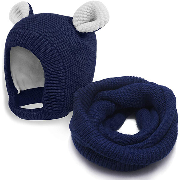 Thick Toddler Winter Hat with Warm Earflaps