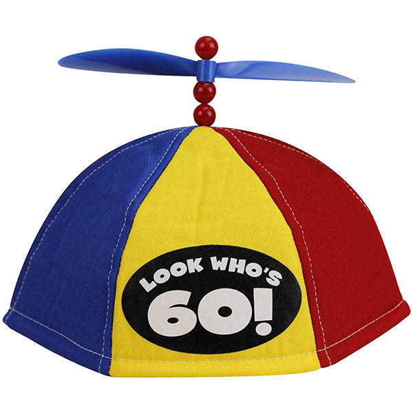 Look Who's 60 Propeller Beanie