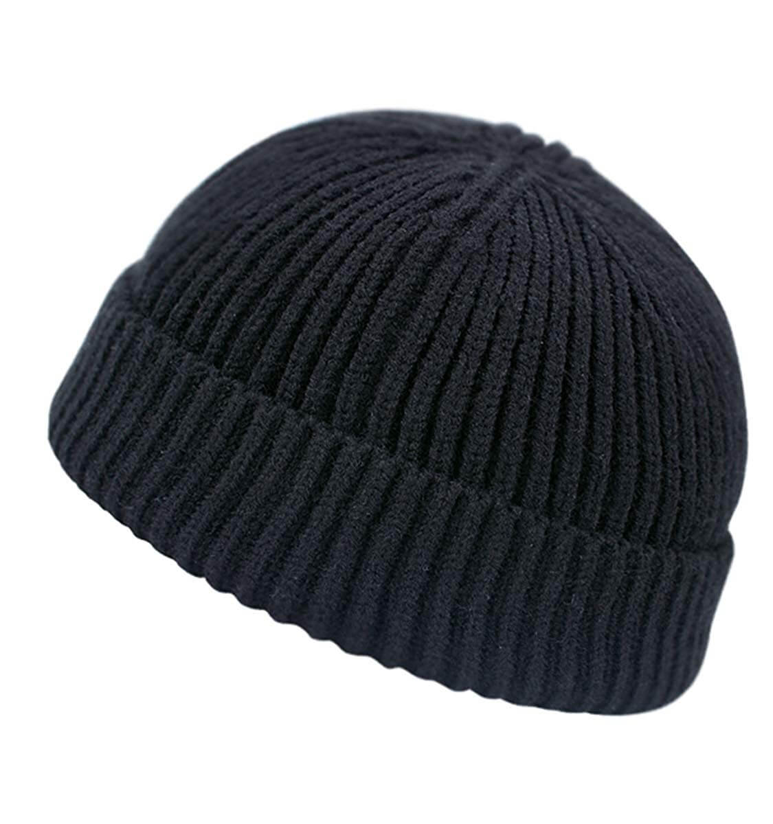 Rollup Edge Knitted Short Beanie
