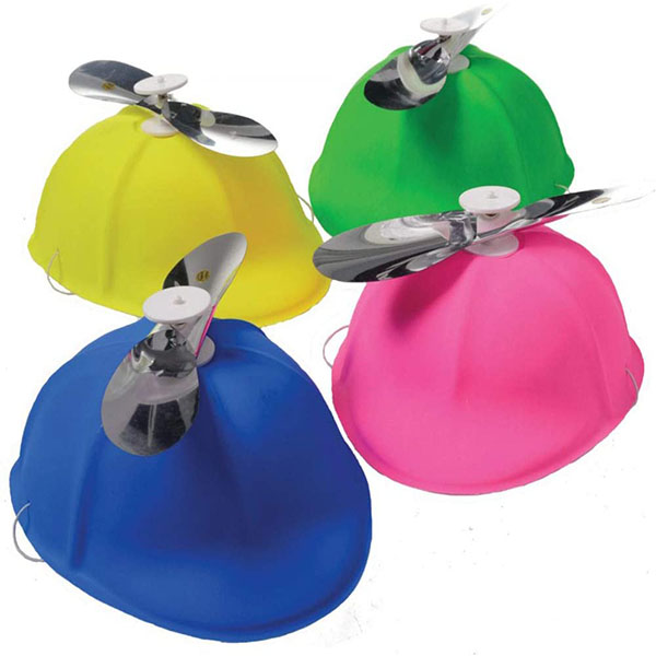 Set of 12 Plastic Propeller Hat