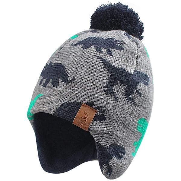 Dinosaur Pattern Toddler Beanie Hat