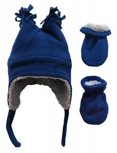 Fleece Lined Winter Hat and Mitten Set