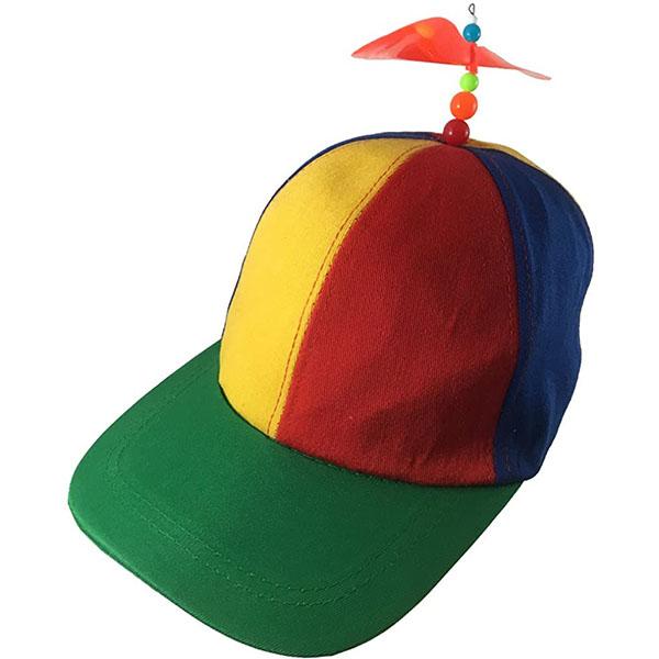 Multicolor Student Beanie Propeller hat