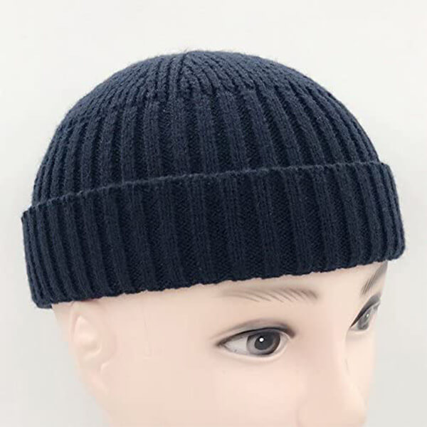 Knitted Short Vintage Beanie for Men and Women