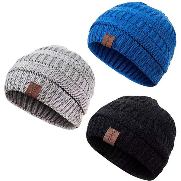Warm Fleece Lined Winter Hat