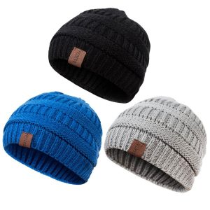 Warm Fleece Lined Winter Hat