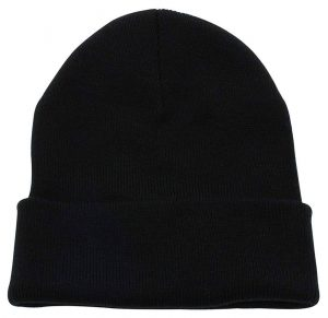 Cuffed Plain Knitted Beanie Hat
