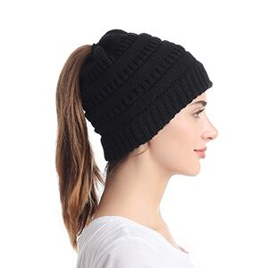 Stretchy Messy Bun Beanie