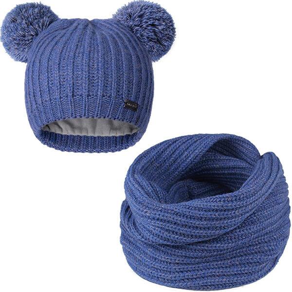 Two Pom Pom Toddler Winter Hat