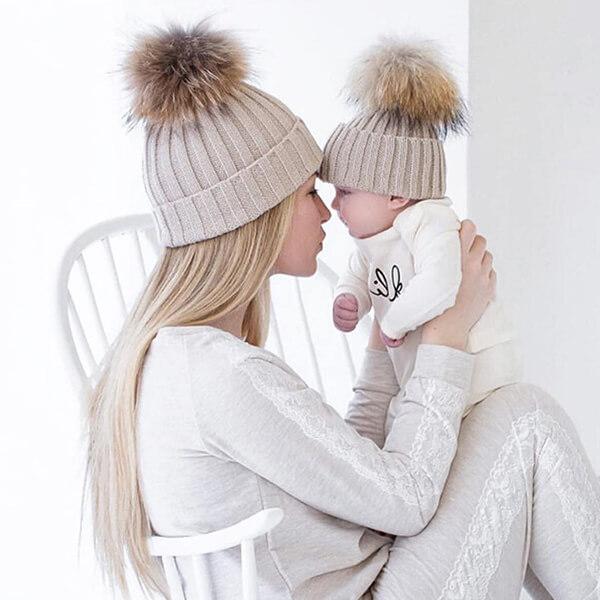 Warm Crotchet Family Beanie Winter Hat