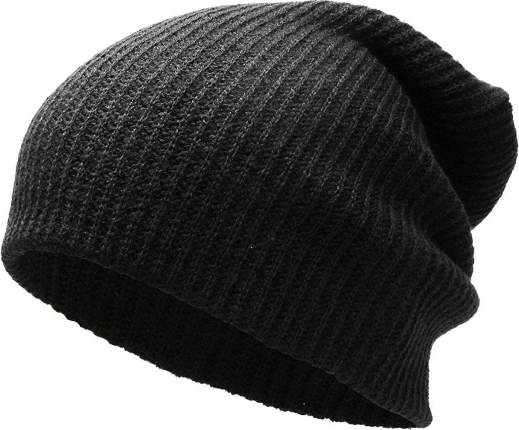 Slouchy and baggy Black Beanie