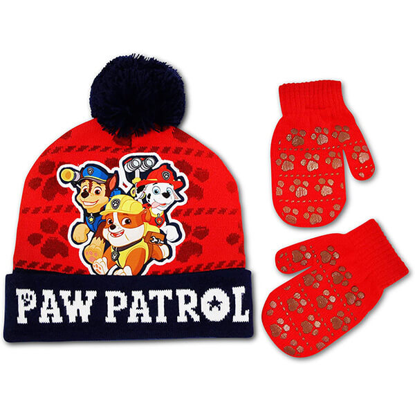 Paw Patrol Winter Hat and Mitten or Glove Set