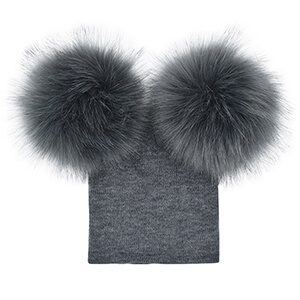 Fur Ball Knit Pompom Baby Beanie