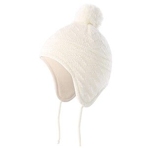 Fleece Lined Knit Pompom Baby Beanie