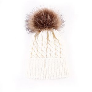 Crocket Hairball Pompom Baby Beanie