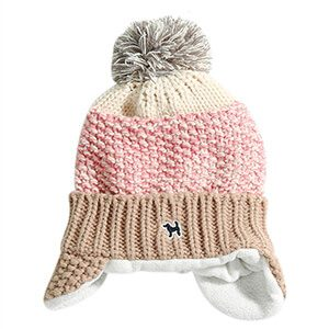 Shaded Knit Pompom Baby Beanie