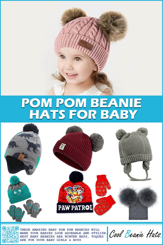 pom pom beanie hats for baby