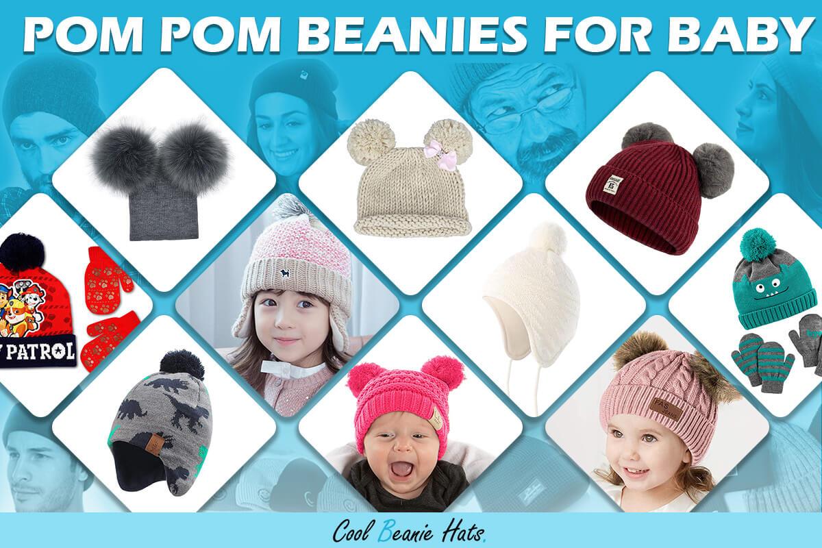 pom pom beanies for baby