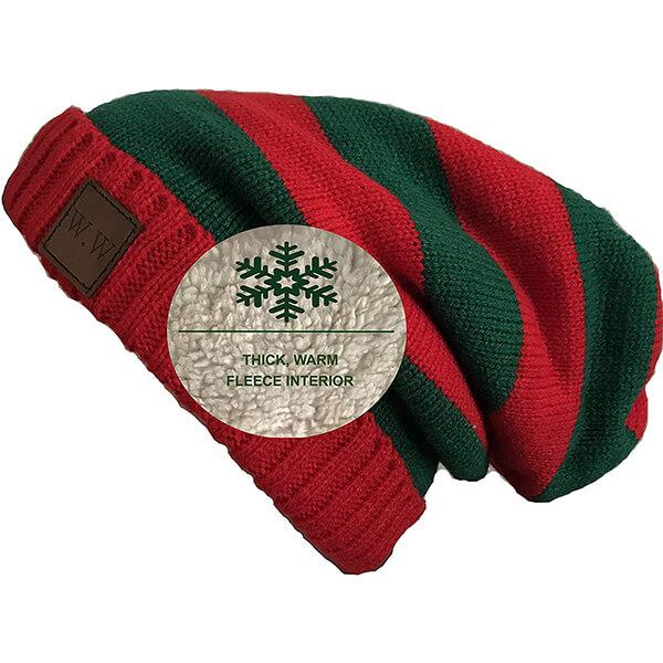 Winter Beanie with Warm Fleece Lined Knit
