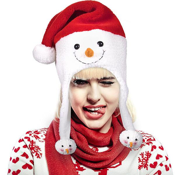 Plush Frosty Snowman Christmas Hat