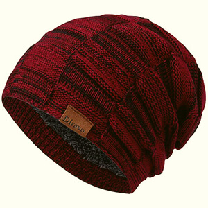 Red brilliant beanie hat to appear handsome