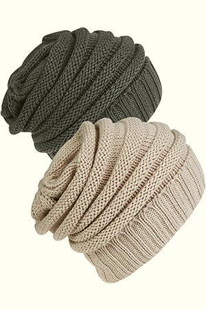 Slouchy beanie to project stylish