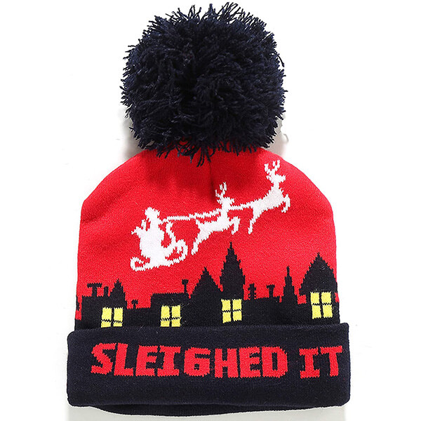 Fashion Cuffed Knit Christmas Beanie Hat