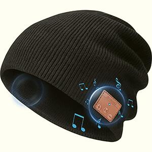 Bluetooth Headphones Slouchy Beanie