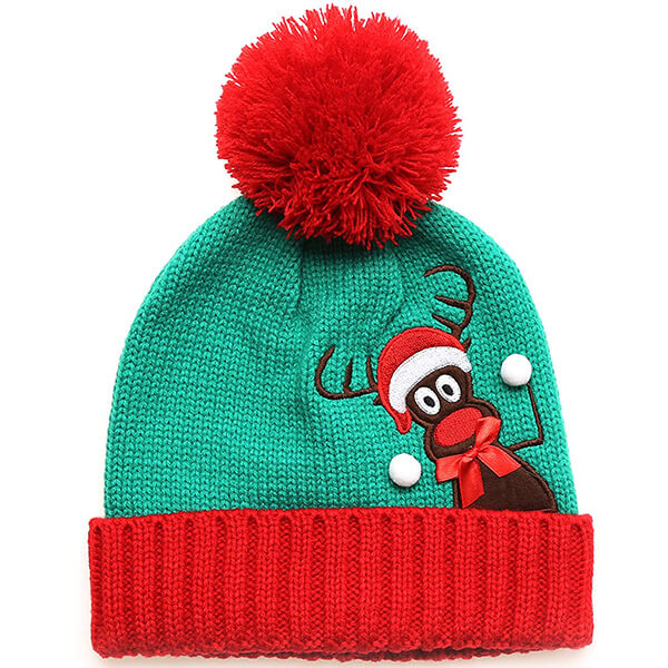 Christmas Holiday Fashion Pom Pom Beanie Hat
