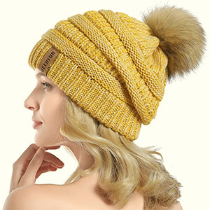 Chunky Baggy Beanie Hat for Women