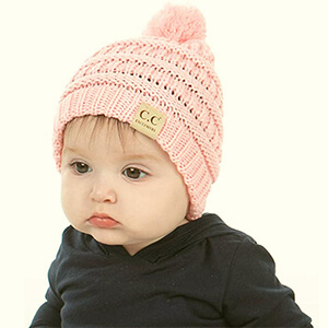Little pompom beanies for your lovely girl