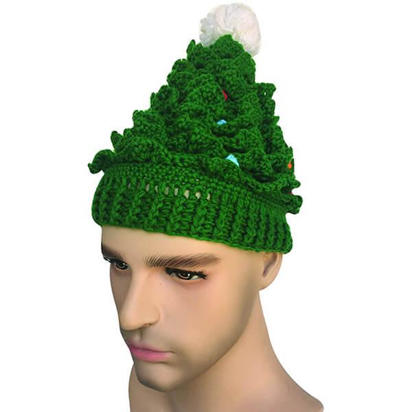 Unisex Christmas Winter Knitted Crochet Beanie