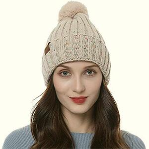 Women's Winter Beanie Pompom