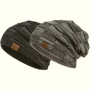REDESS Beanie Hat for Men (Slouchy Knit)